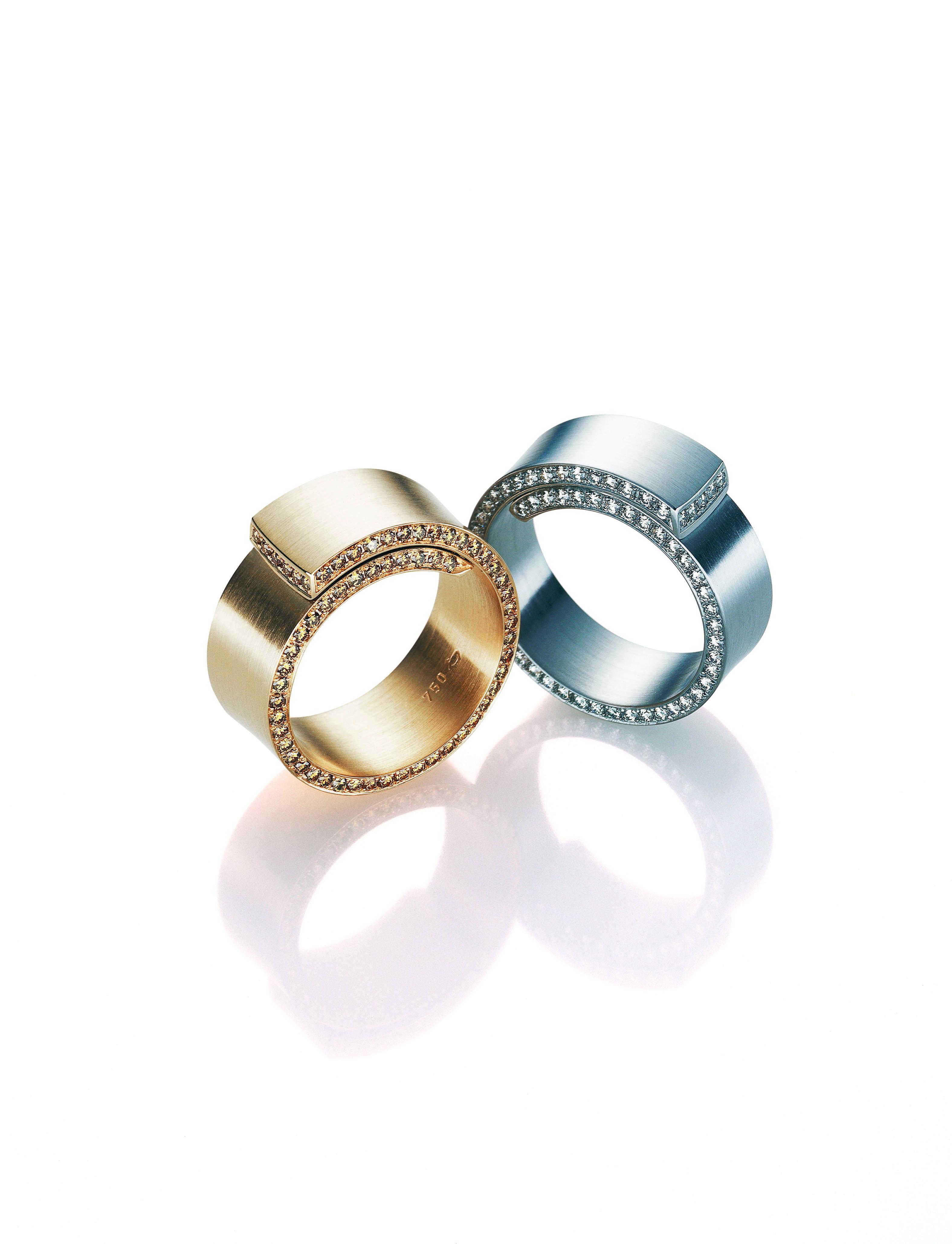 Spira Dia Go+Pt Ring