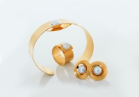 Perlen Gold Arm Ringe Ohr
